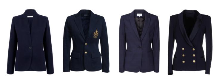 Capi classici senza tempo, la giacca blu - classic timeless pieces, blue jacket.