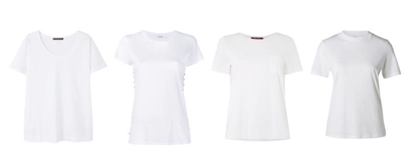 Capi classici senza tempo, la t-shirt bianca - Classic timeless pieces, white t-shirt.