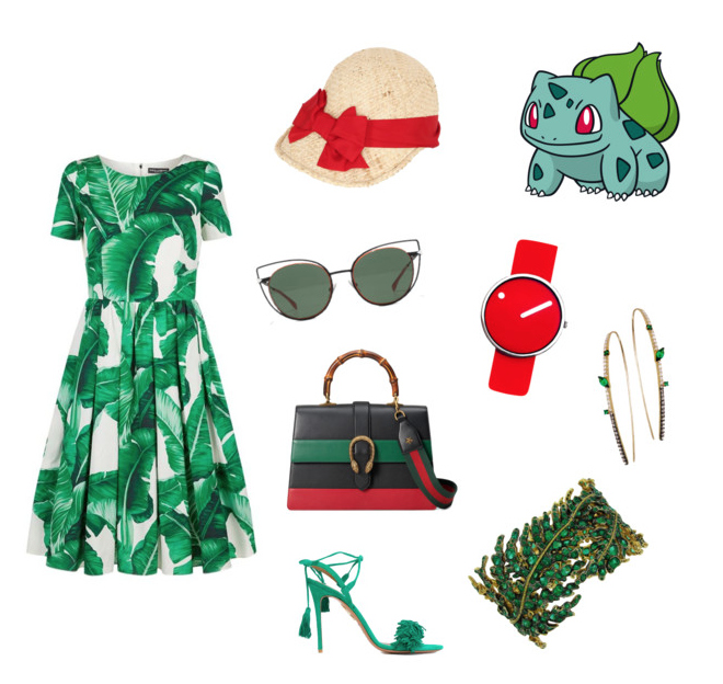 Pokémon Go, Bulbasaur outfit idea.