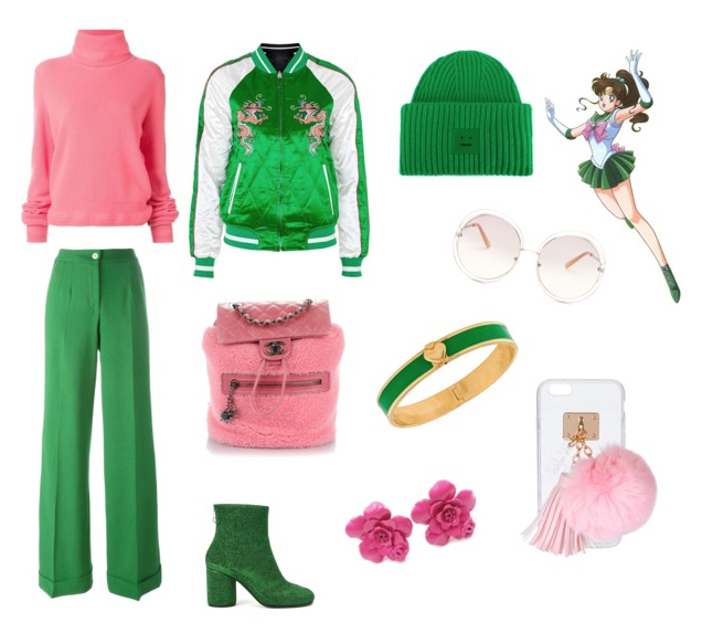 Sailor Jupiter outfit inspiration.