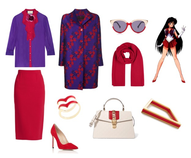 Sailor Mars outfit idea.