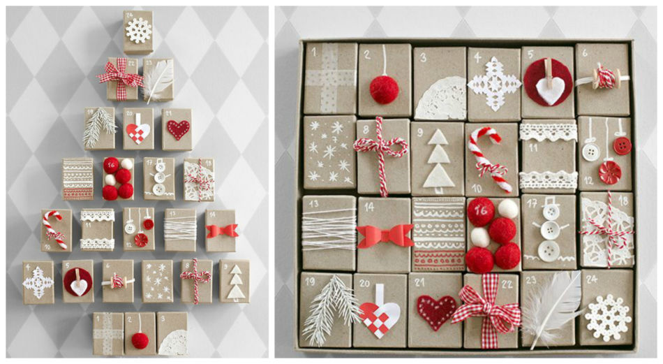 Calendario dell'avvento fai da te - DIY Advent Calendar.