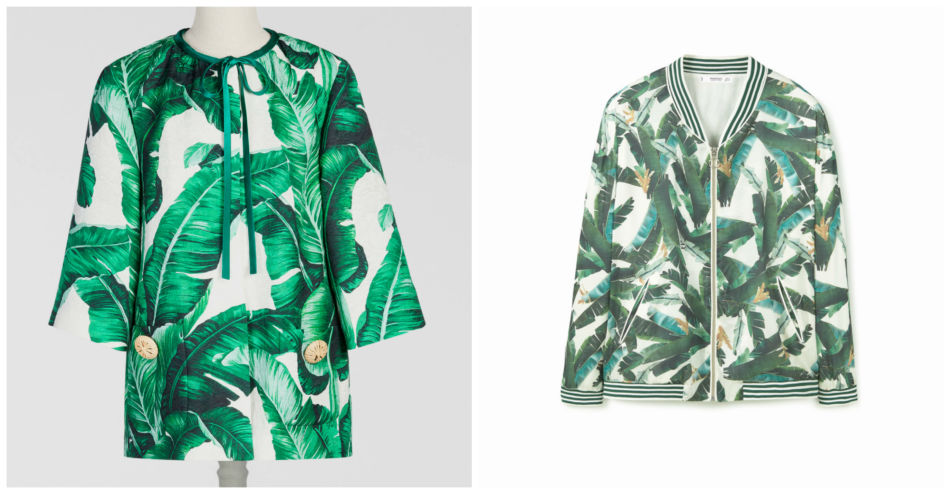 Anche i brand amano copiare. Fantasia Giardino Botanico Dolce & Gabbana vs Mango - Even the brands they love to copy. Pattern Botanical Garden Dolce & Gabbana vs Mango.