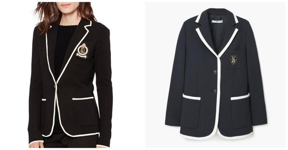 Anche i brand amano copiare. Blazer Ralph Lauren vs Mango - Even the brands they love to copy. Blazer Ralph Lauren vs Mango.