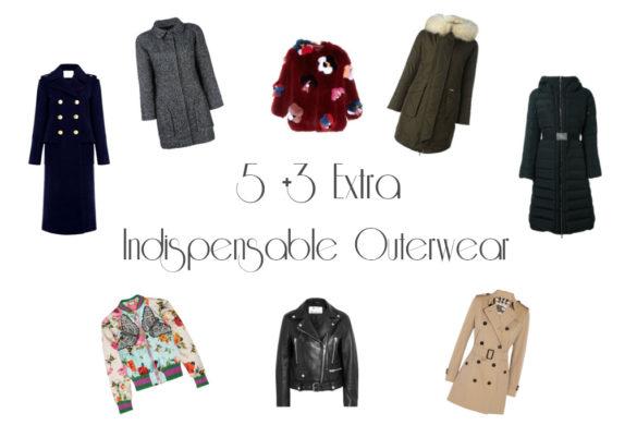 5 +3 extra capispalla indispensabili - 5 +3 extra indispensable outerwear.
