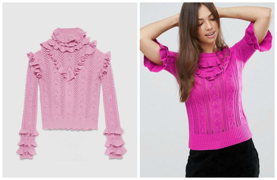 Anche i brand amano copiare. Maglione con rouches Gucci vs Asos - Even the brands they love to copy. Sweater with ruffles Gucci vs Asos.