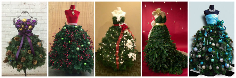 Idee abito ad albero di natale - Fashion Christmas tree dress ideas.