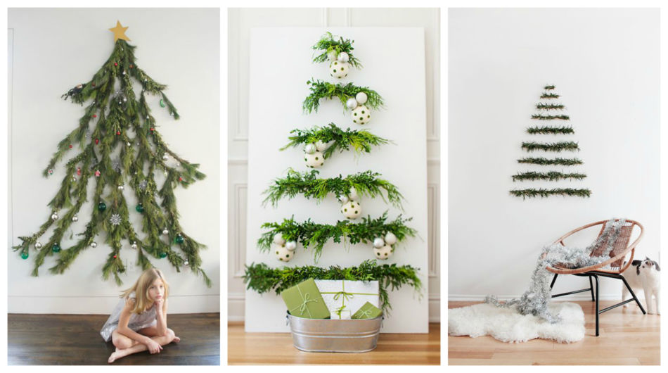 Alberi Di Natale In Legno Da Parete : 10 idee originali per un albero di natale fai da te blog di moda