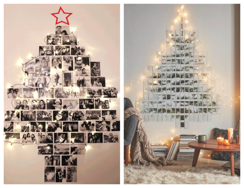 Idee albero di natale fai da te con foto polaroid - Christmas tree polaroid photos ideas DIY.