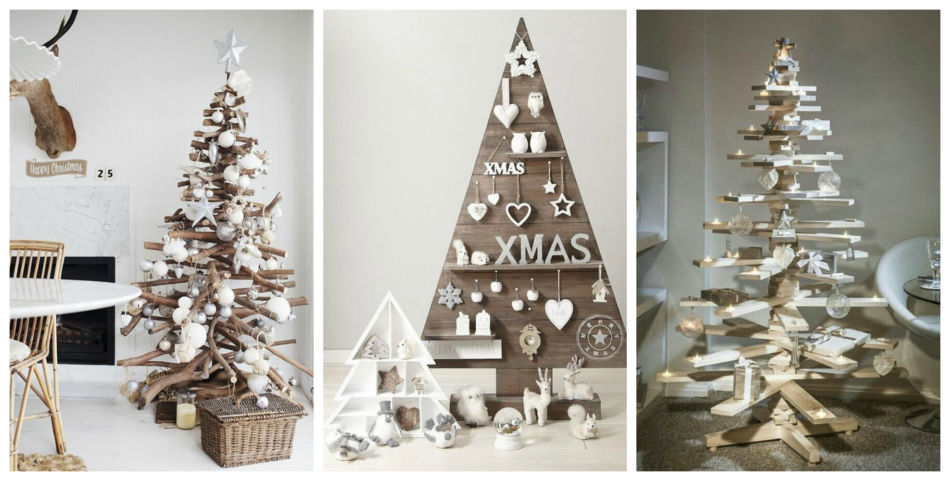 Idee albero di natale in legno - Wood ideas Christmas tree.
