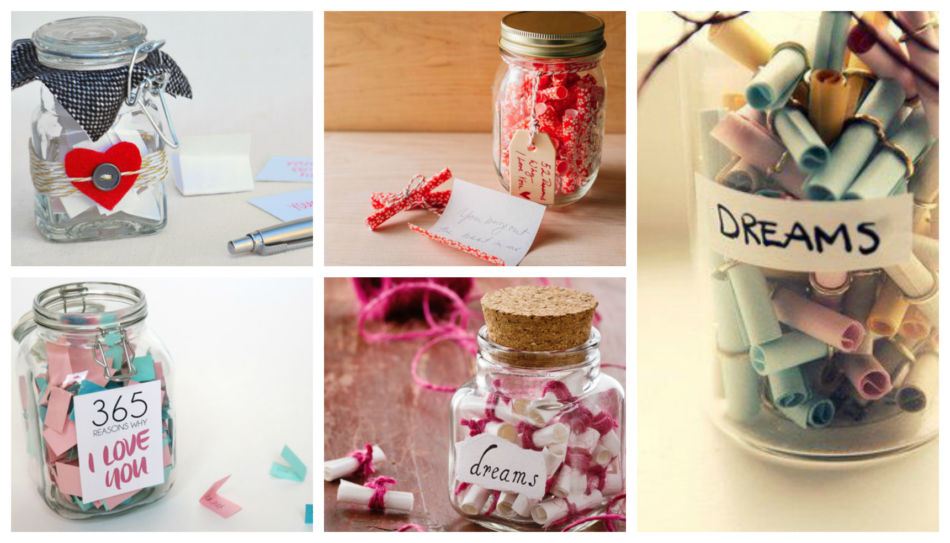 Idea regalo di natale fai da te barattolo con messaggi - DIY idea Christmas gift jar with messages.