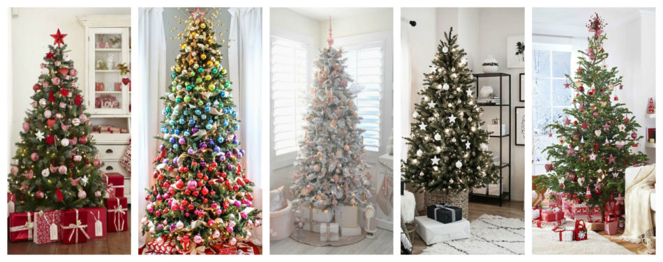 Idee chic per l'abero di natale - Chic ideas to decorate the Christmas tree.