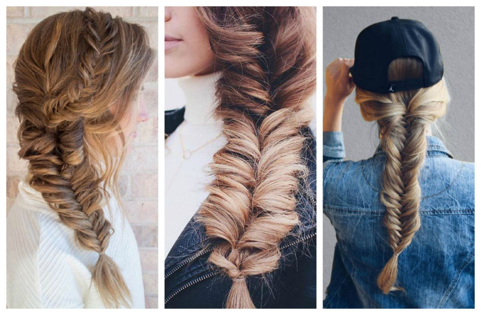 Treccia a spiga o a spina di pesce - Fishtail Braid.