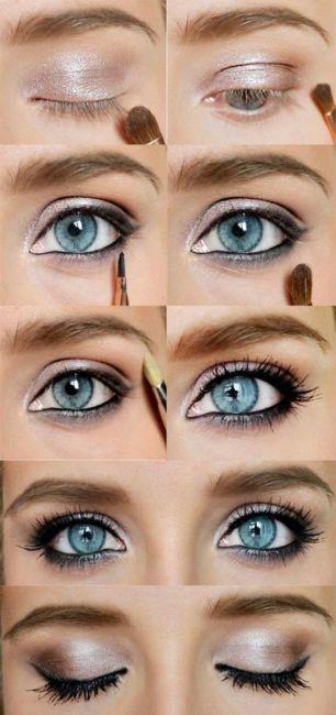 Trucco occhi azzurri - Blue eyes makeup.