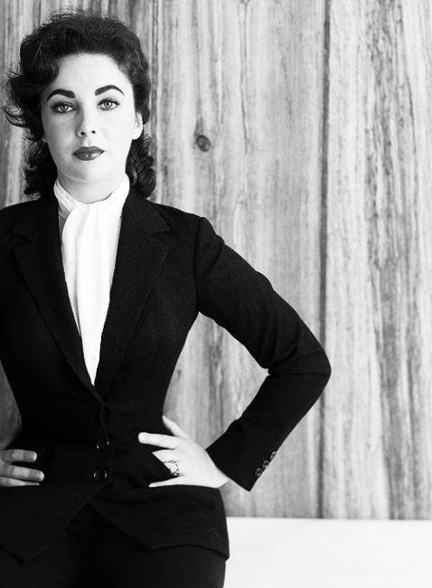 Elizabeth Taylor icona di stile di eleganza - Elizabeth Taylor elegance style icon.