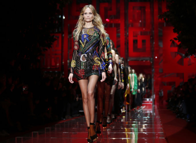 Milan fashion week fashion show Versace.