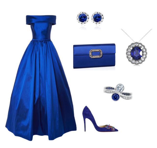 Lapis Blue color outfit.