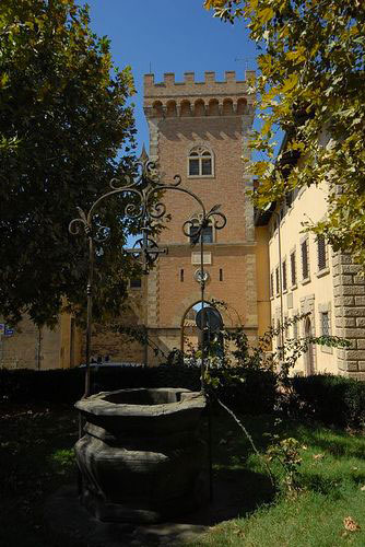 Borgo di Bolgheri in Toscana.
