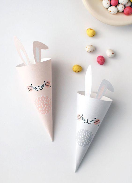 Idea fai da te coniglio di Pasqua - DIY Easter bunny idea.