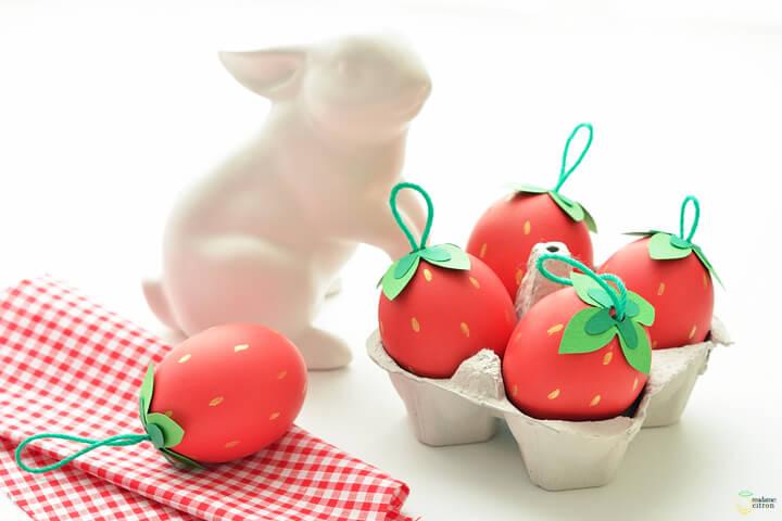 Strawberry Easter eggs.
