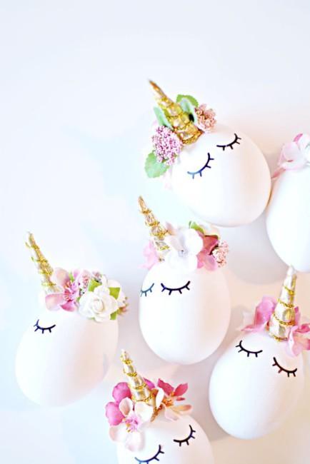 Idea fai da te uova di Pasqua unicorno - DIY Easter egg idea.