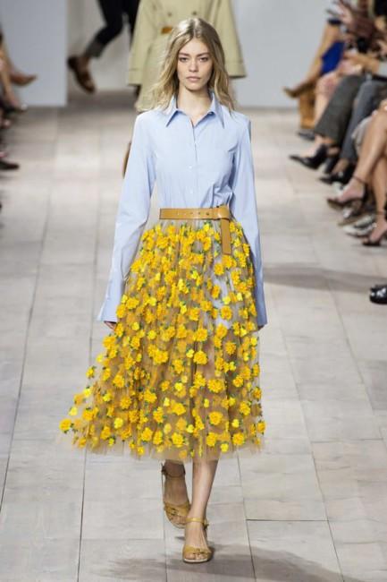 Michael Kors dandelion midi skirt.