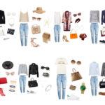 Boyfriend jeans outfit idea.