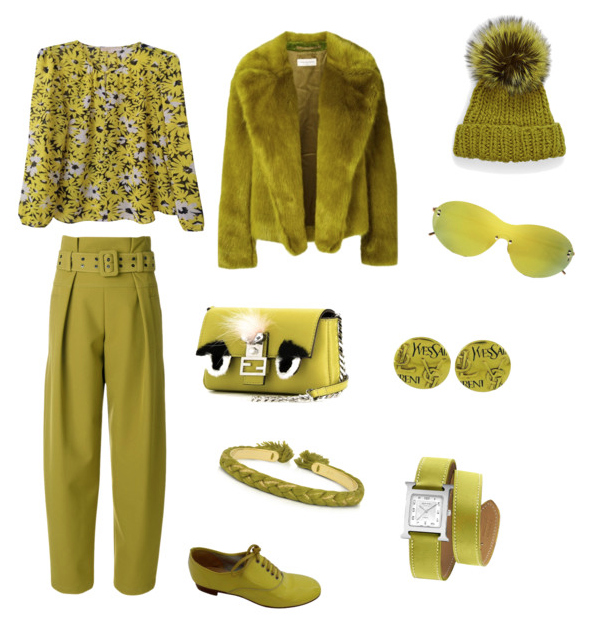 Golden Lime outfit.