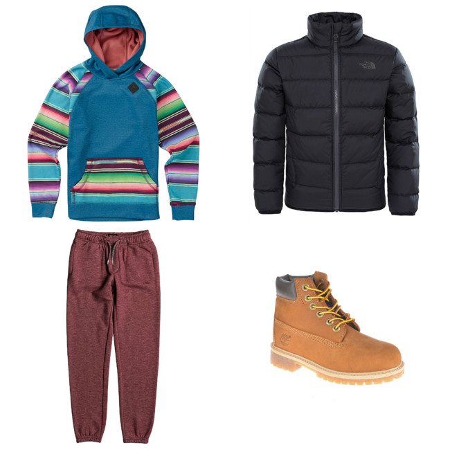 Outfit sportivo moda bambino per andare a scuola - Sports outfit baby fashion to go to school.