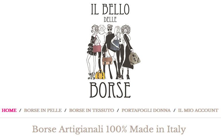 Il Bello delle borse artigianali Made in Italy.