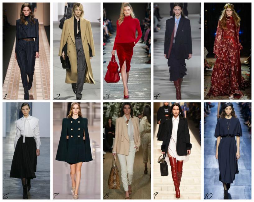 Top sfilate autunno inverno 2017/18 - Top fashion show autumn winter 2017/18.