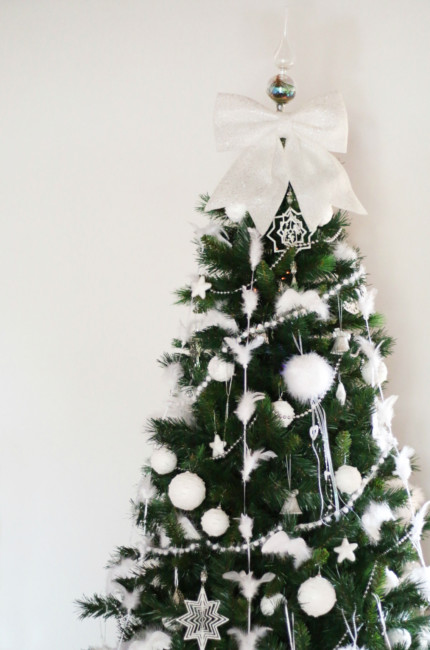 White Christmas tree.