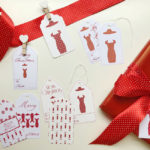 Etichette per impacchettare i regali di Natale - Gift tags for pack Christmas presents.