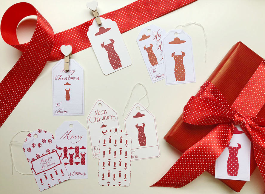 Biglietti di Natale per impacchettare i regali - Christmas cards to pack up presents.