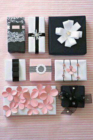 Idee su come impacchettare i regali di Natale - Ideas for bundling Christmas presents.