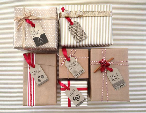 Come impacchettare i regali di Natale - How to bundle Christmas presents ideas.