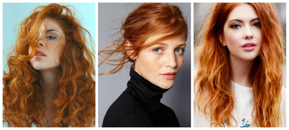 Capelli rosso naturale o rosso irlandese - Natural red or irish red hair.