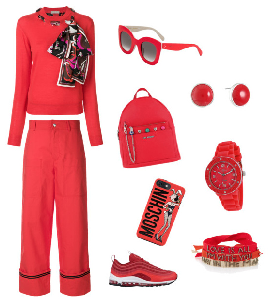 Cherry Tomato color outfit inspiration.