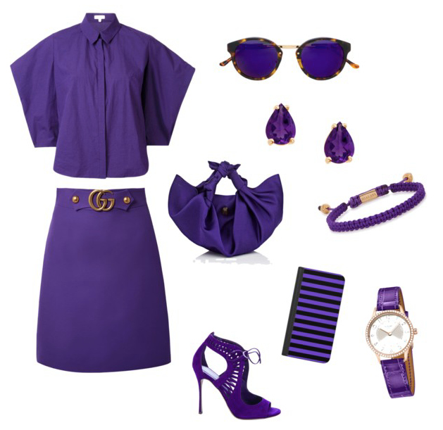 Ultra Violet color outfit inspiration.