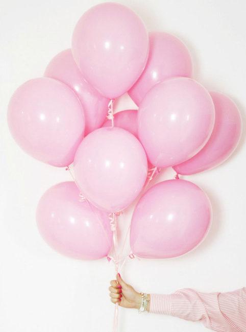 Pink balloons Instagram photo.