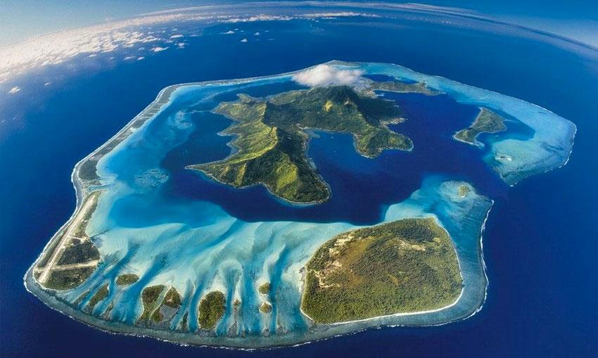 Polinesia, Isola di Bora Bora.