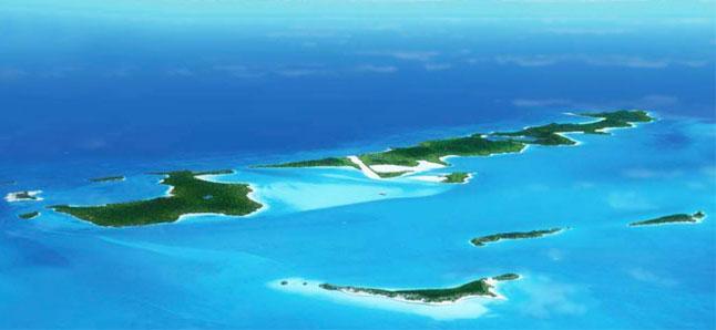 Bahamas, Isola Musha Cay.