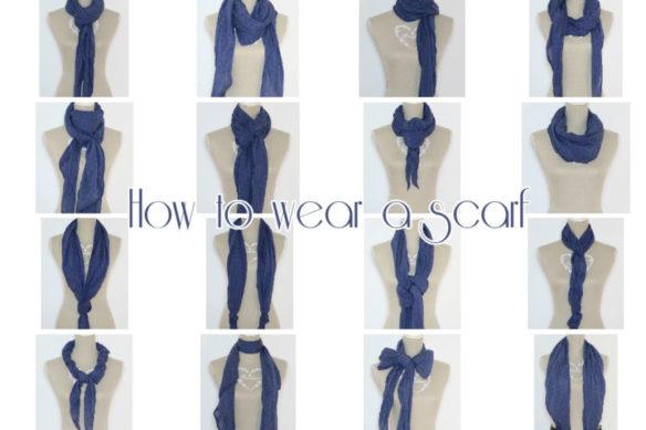 Come indossare una sciarpa leggera