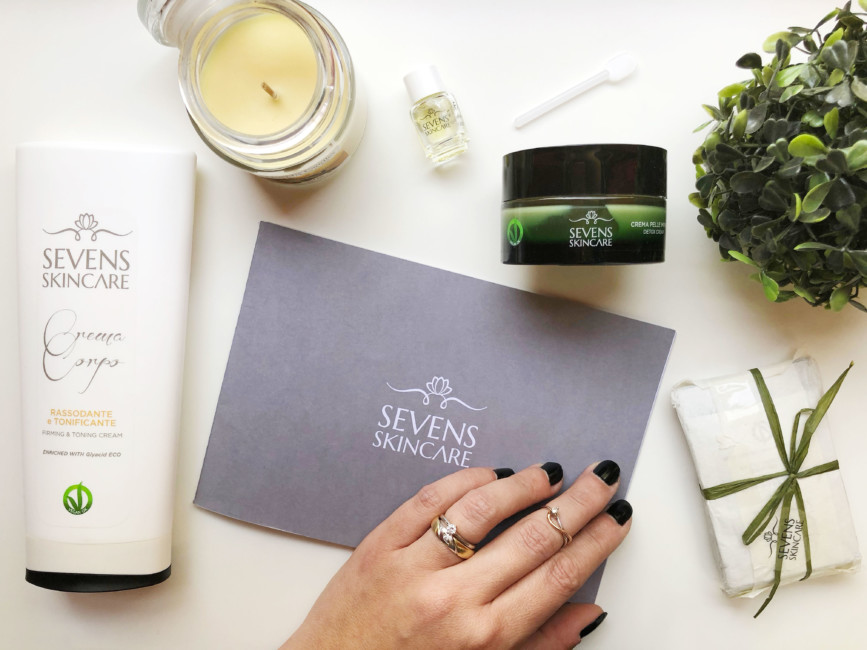 Sevens Skincare natural beauty cosmetic products.