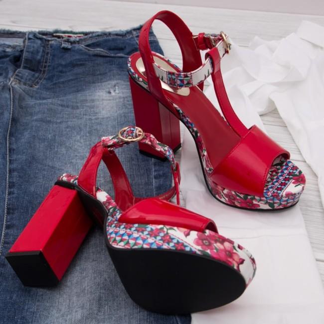 Red sandals Desigual online shop Goccia.clothing.