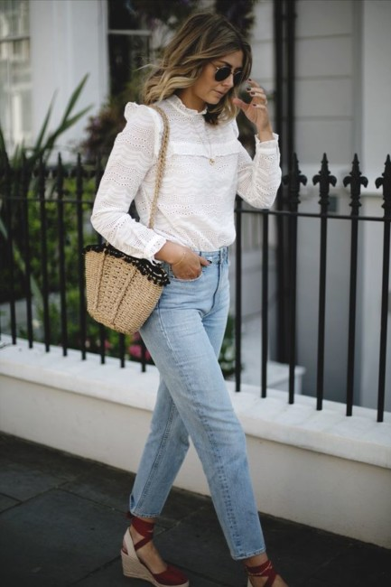 Borsa di paglia e jeans - How to wear a straw bag with jeans.