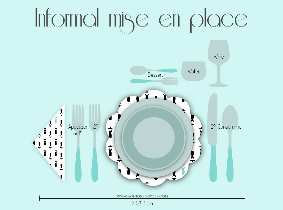 How to set the table with an informal mise en place.