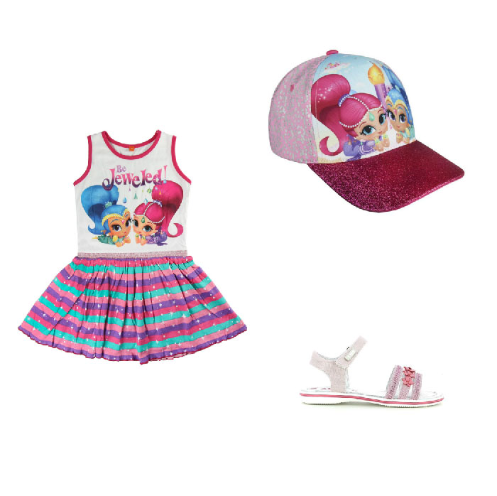 Moda mare bambini Shimmer Shine - Shimmer Shine fashion sea children.