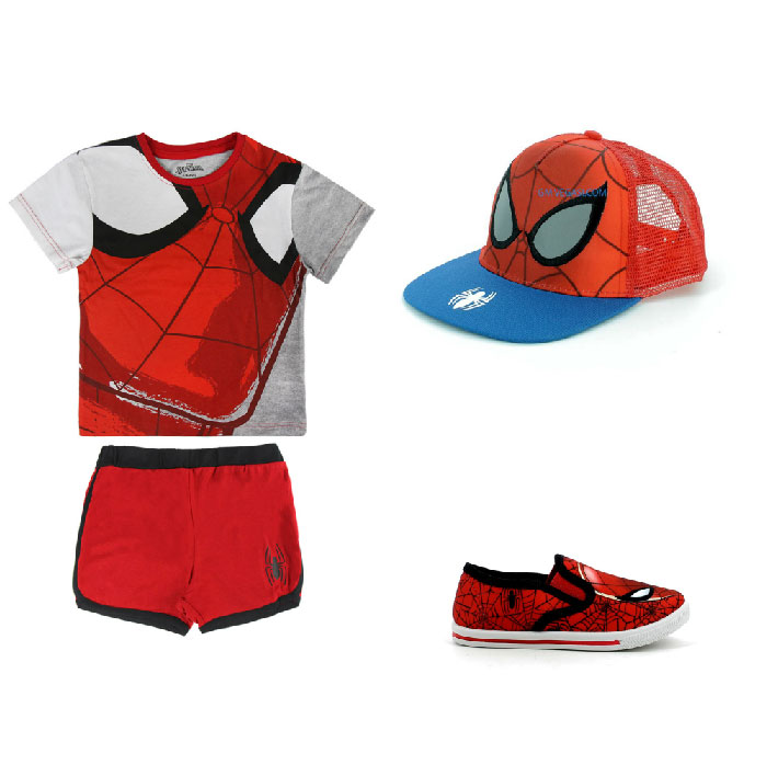 Moda mare bambini Spiderman - Spiderman fashion sea children.