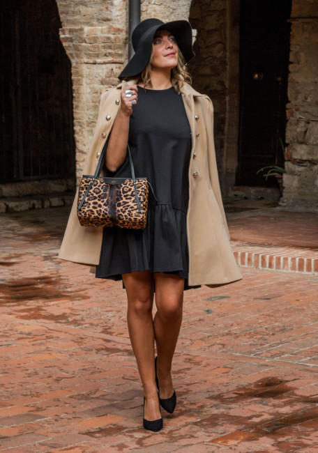Bon ton outfit animalier city bag.